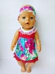 Платье с повязкой на голову для Беби борн Миледи (ББ964)  Dutunka