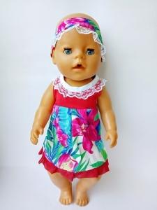 Сукня з пов´язкою на голову для Бебі борн Міледі   Dutunka