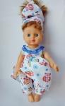Летний комплект  с платьем для куклы Лето  (К28-1) Dutunka
