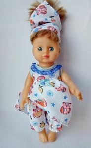 Літній комплект з сукнею для ляльки Літо Dutunka
