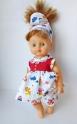 Літній комплект для ляльки з сукнею Маринка Dutunka