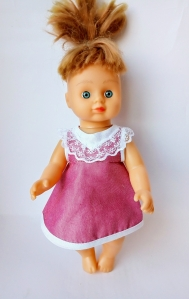 Плаття літнє для пупса 28 см Рожеве літо Dutunka
