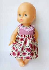 Літнє плаття для пупса 35 см Поцілуночок Dutunka