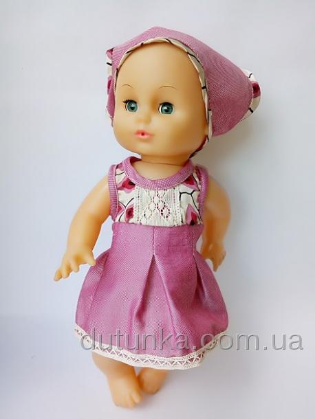 Літнє плаття з косиночки Рожеве Dutunka