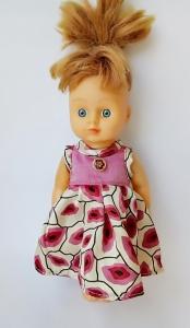 Літнє плаття для лялечки 28 см Поцілунки Dutunka