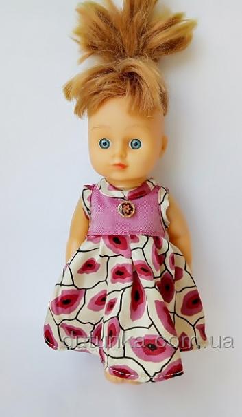 Летнее платье для куколки 28 см Поцелуйчики (К28-9) Dutunka
