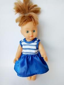 Літнє плаття для лялечки 28 см Морячка Dutunka