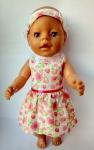 Платье летнее с повязочкой для пупса Беби Бон Розовая мечта (ББ987)  Dutunka