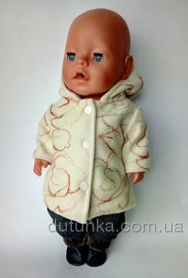 Пальто для пупса-дівчинки Бебі Борн Леді Dutunka