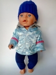 Куртка для пупса Беби Борн Голубая  (ББ940)  Dutunka