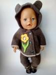 Зимний комплект с пальто для пупса Беби борн Летучая мышка (ББ782)  Dutunka