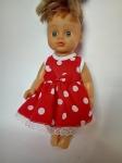 Летнее платье для куколки 28 см Горошки Минни (К28-5)  Dutunka
