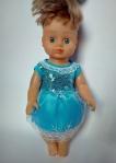 Нарядное платье для куколки Эльза (R80)  Dutunka
