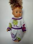 Пижама для куклы 28 см Сладкие сны (К28-52) Dutunka