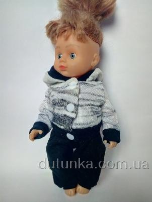 Брючний комплект для лялечки Чорно-білий Dutunka