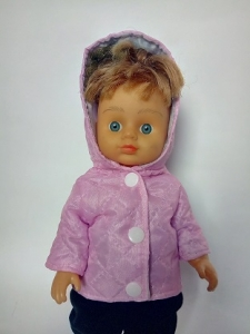 Розовая куртка для куколки 28 см  (R102)  Dutunka