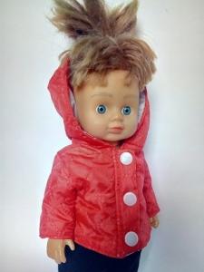 Курточка для куколки красная (R106)  Dutunka