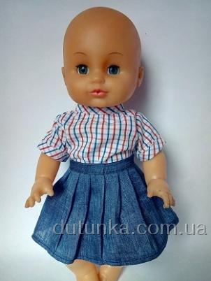 Комплект з джинсовою спідничкою Модняшка для пупса дівчинки (немає в начвності)  Dutunka