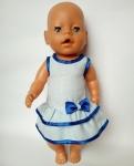 Летнее платье для пупса-девочки Беби борн Детское(ББ961) Dutunka