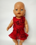 Платье нарядное для пупса Беби Борн Пламенное (ББ785) Dutunka