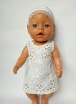 Платье для пупса-девочки Baby Born Ришелье  (ББ707)   Dutunka