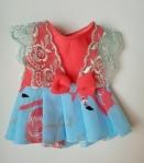 Летнее платье для пупса 32 см Розовый фламинго (К32-15) Dutunka