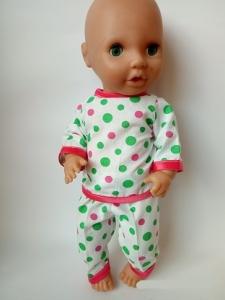 Летняя пижама для пупса 38 см Веселые горошки (К38-147)  Dutunka