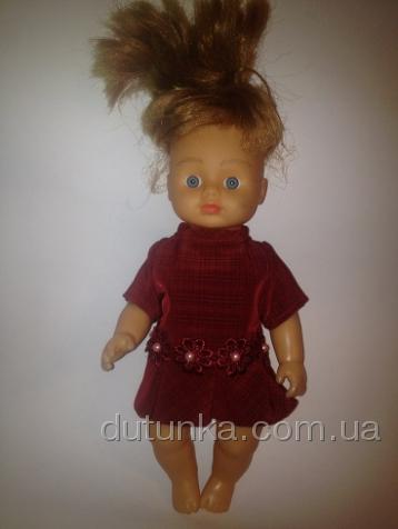 Сукня для маленької лялечки Малинове Dutunka