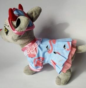 Літнє плаття для собачки Чі Чі Лав Фламінго (немає) Dutunka