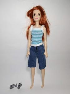 Джинсовий комплект з бриджами для ляльки Барбі Dutunka