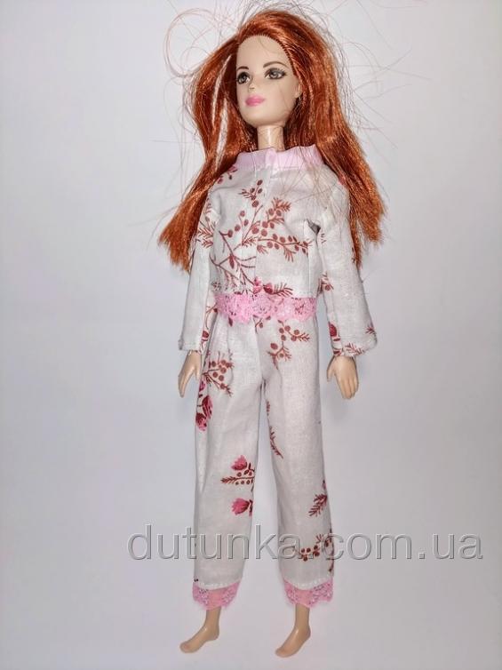 Комплект піжамний для лялечки Барбі Рожеві котики Dutunka