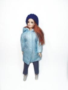 Куртка -пальто для ляльки Барбі Кольорове (вибір кольорів) Dutunka