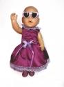 Ошатне плаття для пупса-дівчинки Бебі Бон Ультрафіолет Dutunka