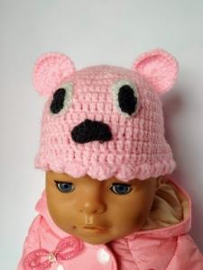 В´язана шапочка для пупса Бебі Борн Мішка (вибір кольорів) Dutunka