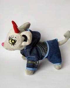 Джинсовый комплект для собачки Чи чи лав  Модный джинс(Ч402) Dutunka
