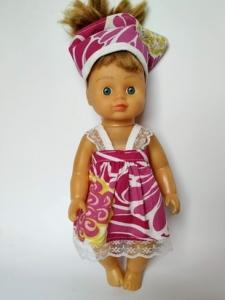 Літній сарафан для лялечки 28 см Dutunka