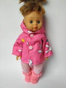 Плащ для куколки Розовый заяц  (нет в наличии) Dutunka