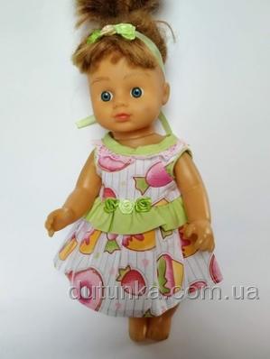 Літнє плаття з повязочкою для лялечки 28 см Dutunka