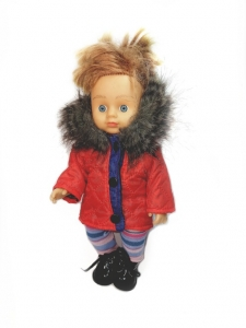 Куртка з капюшоном для лялечки 28 см Полум´я Dutunka