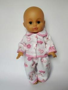 Тепла лялькова піжама Мішки. Рожева Dutunka