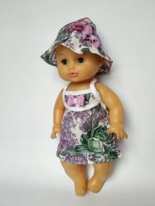 Плаття літнє для пупса 35 см Фіолетове Dutunka