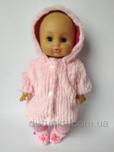 Рожева шубка для пупса 35 см Рожева норка Dutunka