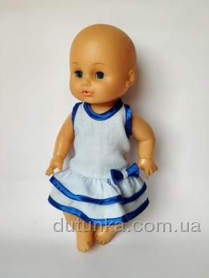 Літнє плаття для лялечки 35 см Синє Dutunka