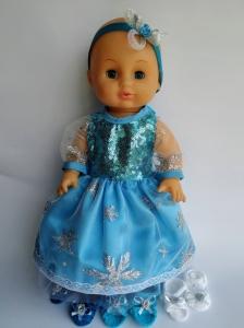 Бальное платье для пупса 35 см Эльза    Dutunka