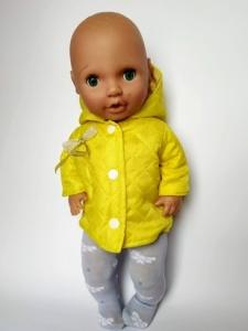 Демисезонная куртка для пупса 38см Солнечная   Dutunka