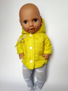 Демісезонна куртка для пупса 38см Сонячна Dutunka