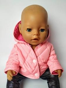 Куртка для пупса дівчинки Бебі бон Рожева   Dutunka