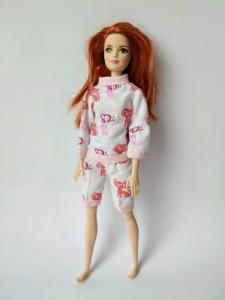 Комплект пижамный для куколки Барби Розовые котики Dutunka