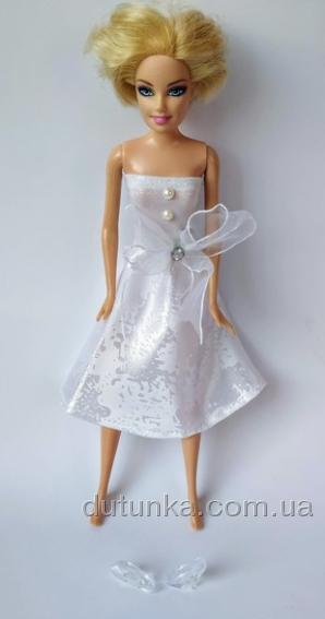 Сукня біла для ляльки Барбі Білосніжка Dutunka