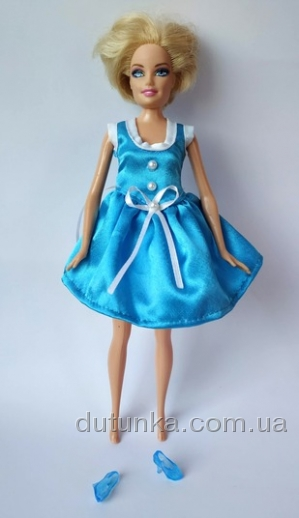 Сукня для Барбі Бірюза Dutunka